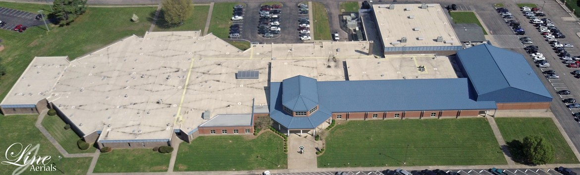 Elizabethtown High School Aerial View by Justin Line - The Key to Success