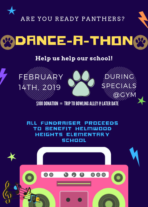 Dance-A-Thon Flyer