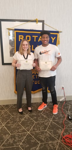 February Students of the Month for Noon Rotary