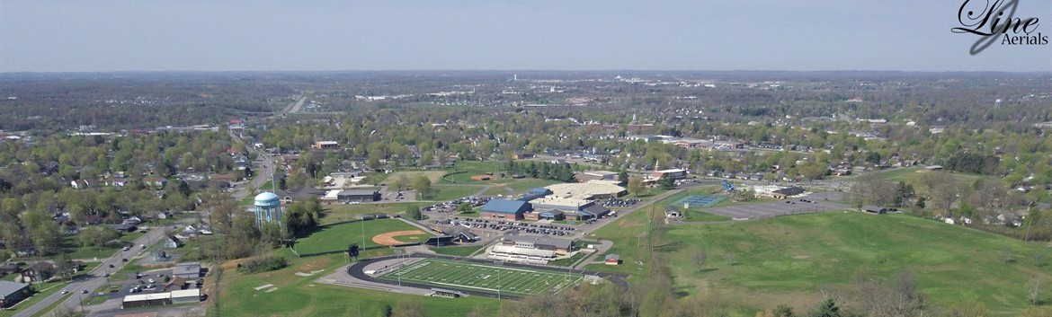 Drone image of Elizabethtown High School taken by Justin Line.