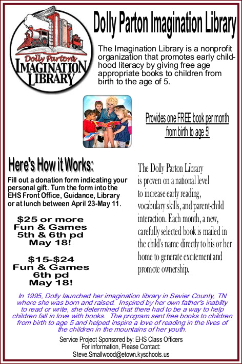 Imagination Library for EHS