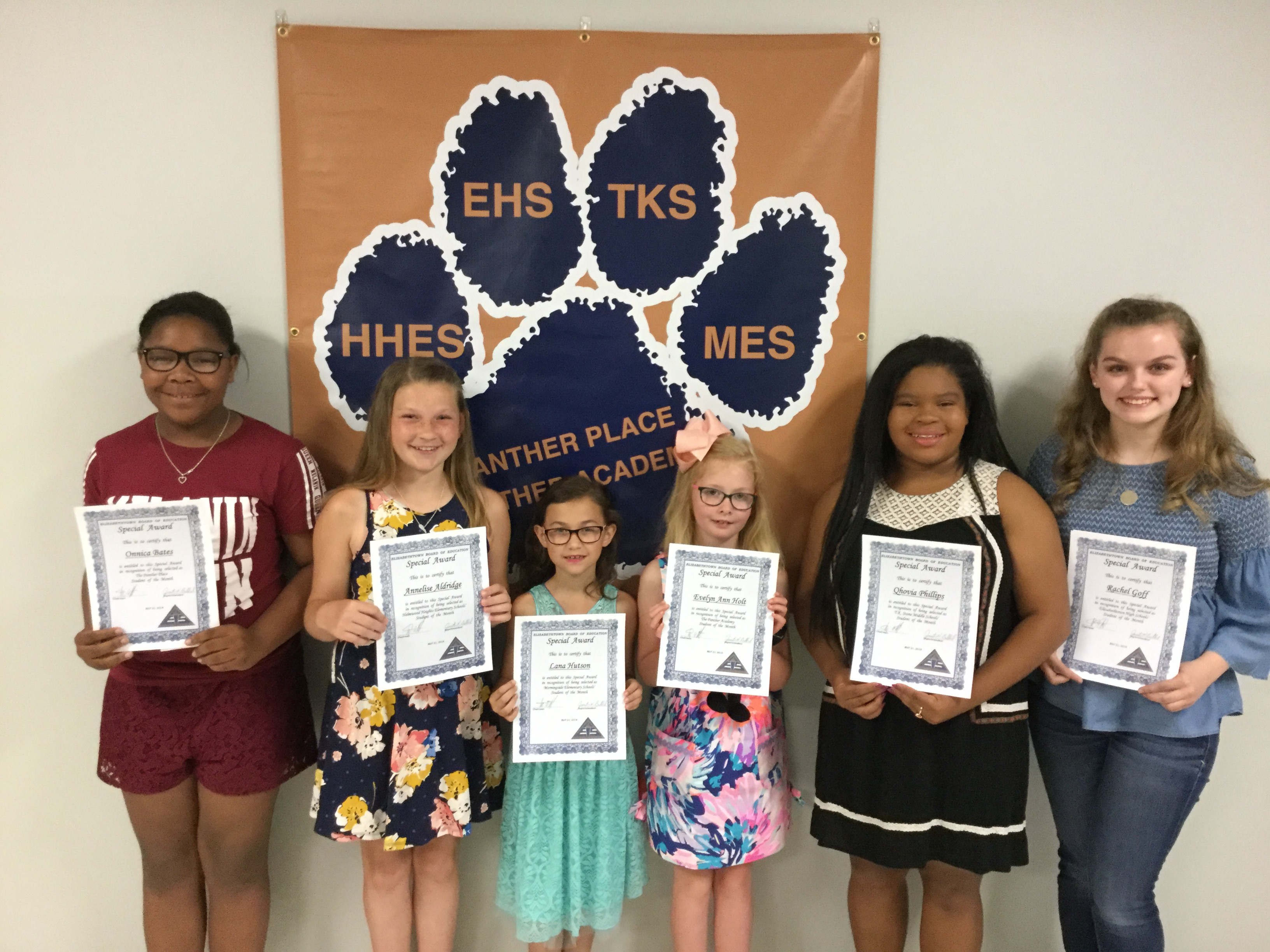 Students of the Month, May