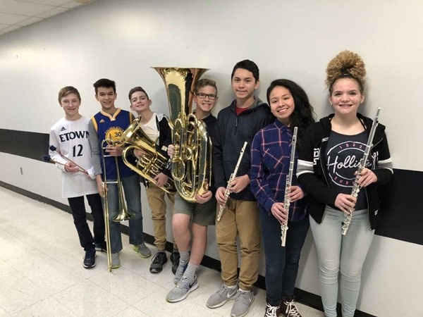 7 members of TK Stone band have made All-District band and play in Campbellsville with other students from over 20 other middle schools.