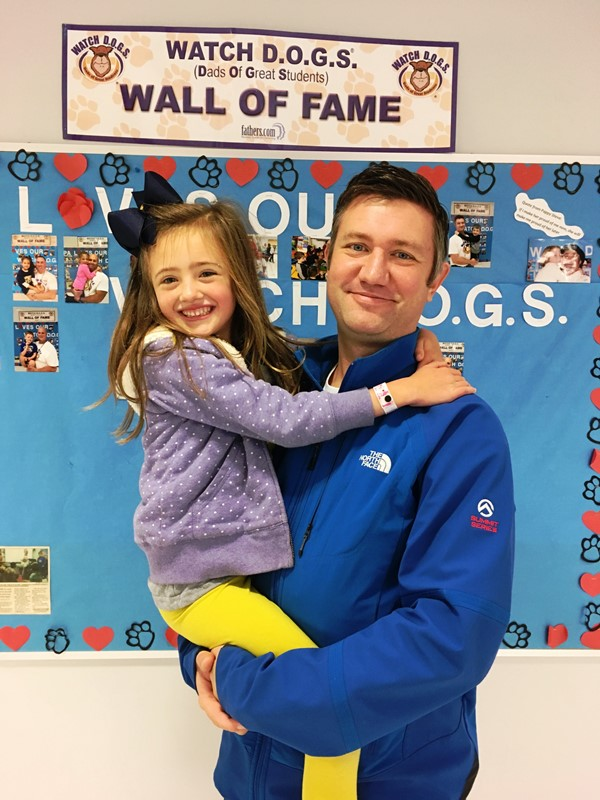 Dr. Lye and his daughter.  On duty for Watch D.O.G.S.