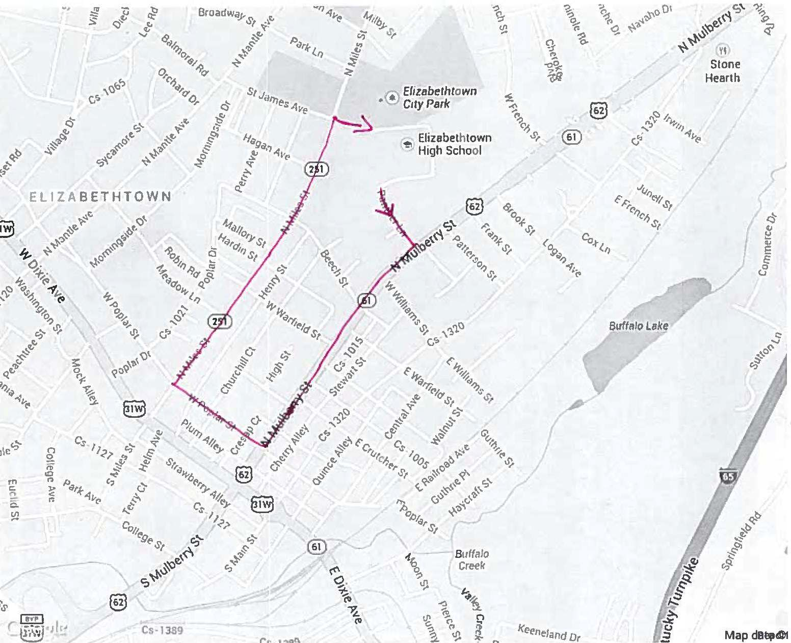 Checkout the new route for this year's Homecoming Parade!